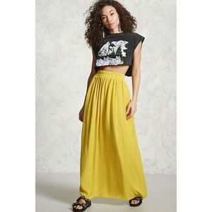 Forever 21 Yellow Long Maxi Skirt - Small, BNWT